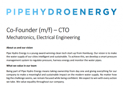 Co-Founder – CTO Mechatronics, Electrical Engineering